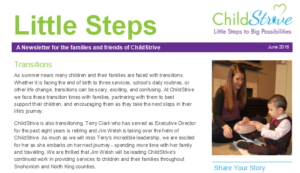 ChildStrive Family Newsletter screenshot
